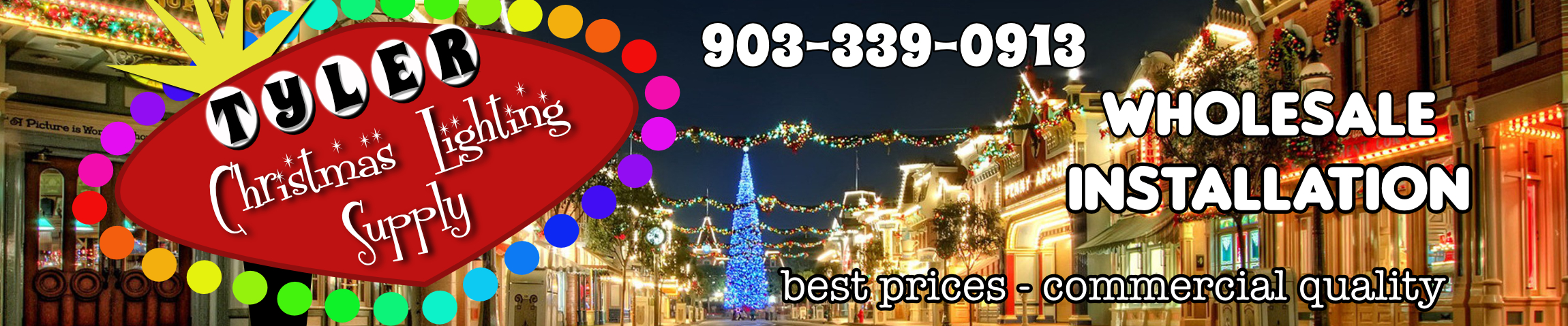 tyler tx commercial christmas lighting supply