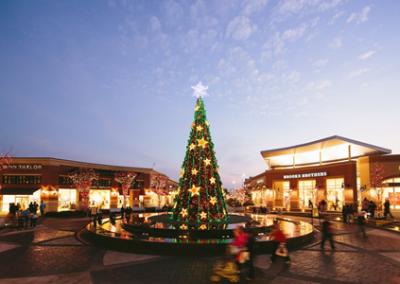 Shopping center christmas display